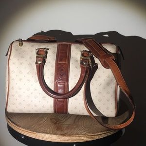 Pollini Bags - Vtg Pollini Signature Handbag With Shoulder Strap